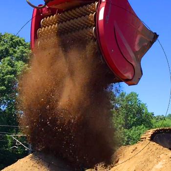 fast screening bucket landscaping